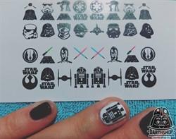 Слайдеры (наклейки) для ногтей DarthShop Star Wars - фото 4090