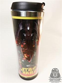 Термокружка металл + пластик STAR WARS - фото 4254