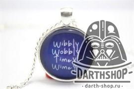 Кулон (подвеска) на цепочке Doctor Who Wibbly Wobbly Timey Wimey