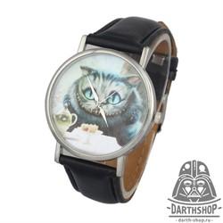 Часы Чеширский кот - фото 4320
