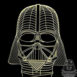 Светильник с эффектом 3D Дарт Вейдер (300-001-00-1)