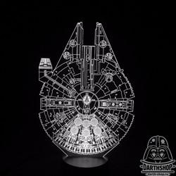 Светильник с эффектом 3D Millenium Falcon (300-022-00-1)