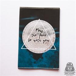 051-034-04-1 - Обложка для паспорта с водоотталкивающим покрытием May The Force Be With You