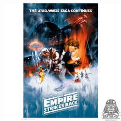 Постер 61х91,5 см The Empire strikes back (502-009-09-2)
