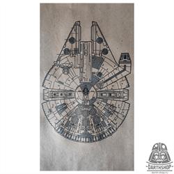 Постер А4 на крафт-бумаге Millenium Falcon (501-022-04-1)