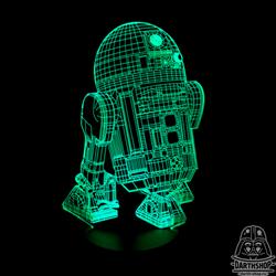 Светильник с эффектом 3D R2-D2 (300-010-00-1) с зелёной подсветкой