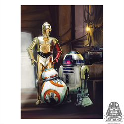 Фотообои STAR WARS Three Droids