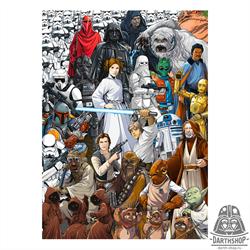Фотообои STAR WARS Classic Cartoon Collage