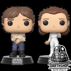 Funko POP! Bobble: Star Wars: 2PK Han & Leia / Фигурки Фанко Поп! Звёздные войны - Принцесса Лея и Хан Соло - фото 6721