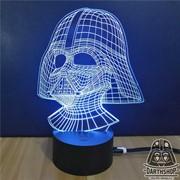 Светильник с эффектом 3D Дарт Вейдер