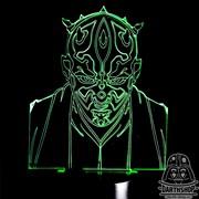 Светильник с эффектом 3D Дарт Мол (300-004-00-1)