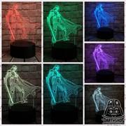 Светильник с эффектом 3D Дарт Вейдер (300-001-00-4) с 7 оттенками света