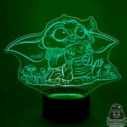 Светильник с эффектом 3D Малыш Йода (300-037-20-2)