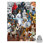 Фотообои STAR WARS Classic Cartoon Collage