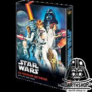 """STAR WARS (A NEW HOPE VHS) A5 PREMIUM NOTEBOOK CDU / Звёздные войны - блокнот А5 линованный в стиле ВХС """"Новая надежда"""""""