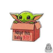 Деревянный значок Baby Jedi (815-037-10-1)