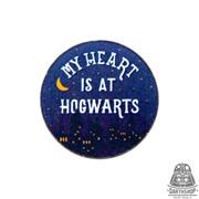 Деревянный значок My heart is at Hogwarts (815-204-09-1)
