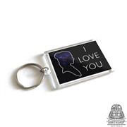 Прямоугольный брелок I love you (450-013-04-1)