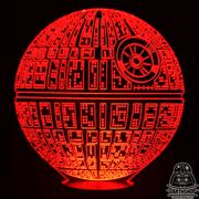 Светильник 3D Звезда Смерти (300-017-00-2), красное свечение